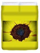 Center Of A Sunflower Duvet Cover