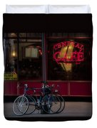 Central Cafe Bicycles Duvet Cover
