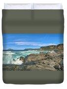 Central Coast Ca Ocean Waves Crashing On Rocks  4 Duvet Cover
