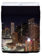 Central Houston At Night Duvet Cover