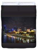 Central Melbourne Skyline At Night Australia Duvet Cover