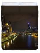 Central Melbourne Skyline In Australia Duvet Cover