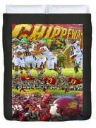 Central Michigan Football Collage Duvet Cover