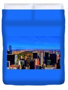 Central Park And New York City In Autumn Duvet Cover