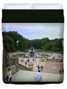 Central Park - Bethesda Fountain Duvet Cover