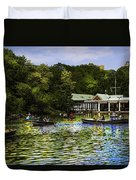 Central Park Boathouse Duvet Cover