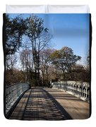 Central Park Bridge Shadows Duvet Cover