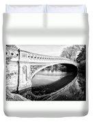 Central Park Bridges Bow Bridge Spanning Lake Duvet Cover