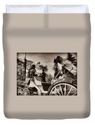 Central Park Carriage Ride - Antique Appeal Duvet Cover