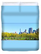 Central Park Panoramic View Duvet Cover