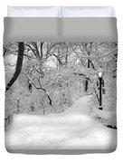 Central Park Dressed Up In White Duvet Cover