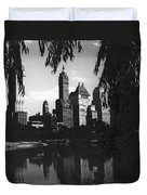 Central Park Evening View Duvet Cover
