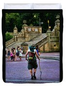 Central Park Hiker Duvet Cover