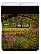 Central Park In Autumn - Nyc Duvet Cover