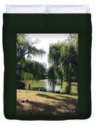 Central Park In The Summer Duvet Cover