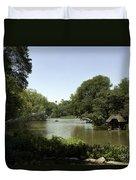 Central Park Pond Duvet Cover