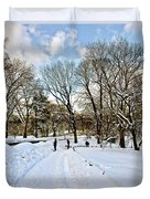 Central Park Snow Storm One Day Later2 Duvet Cover