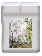 Central Park Stroll Duvet Cover