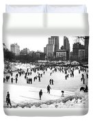 Central Park Winter Carnival Duvet Cover
