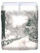 Central Park Winter Landscape Duvet Cover