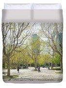 Central Shanghai Park In China Duvet Cover