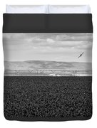 Central Washington, Usa. A Crop Duster Duvet Cover
