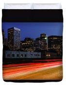 Century City Skyline At Night Duvet Cover