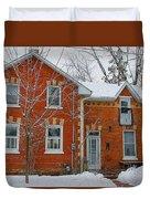 Century Home In Winter 3 Duvet Cover