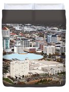 Century II Convention Hall And Downtown Wichita Duvet Cover