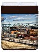 Century Link Field Seattle Washington Duvet Cover