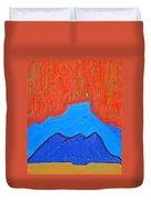 Cerro Pedernal Original Painting Sold Duvet Cover