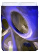 Cerulean Abstract Duvet Cover