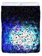 Cerulean Pixels Duvet Cover
