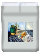 Cezanne Still Life With Apples In Watercolor Duvet Cover