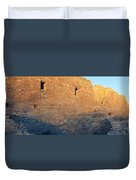 Chaco Canyon Indian Ruins, Sunset, New Duvet Cover