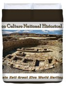 Chaco Culture National Historic Park Poster Duvet Cover