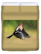 Chaffinch In Flight Duvet Cover