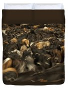 Chagras Round-up Cattle Ecuador Duvet Cover