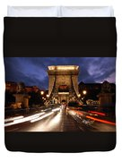 Chain Bridge Budapest  Duvet Cover
