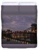 Chain Bridge Dawn Duvet Cover