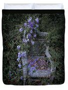 Chair And Flowers Duvet Cover