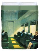 Chair Car Duvet Cover by Edward Hopper