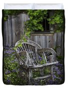 Chair In The Garden Duvet Cover