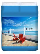 Chairs Cape Cod Ma Duvet Cover