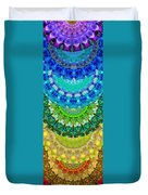 Chakra Mandala Healing Art By Sharon Cummings Duvet Cover