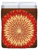 Chakra Mandala With Crystal Stone Healing Energy Plates By Side  Navinjoshi Rights Managed Images Fo Duvet Cover
