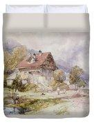 Chalet, Brunnen, Lake Lucerne Duvet Cover