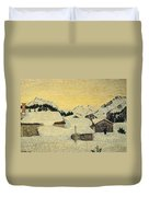 Chalets In Snow Duvet Cover by Giovanni Segantini