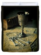 Chalice And Keys Duvet Cover