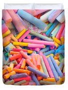 Chalk Colors Duvet Cover